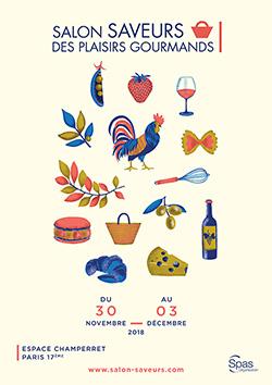 Affiche salon Saveurs des plaisirs gourmands 2018