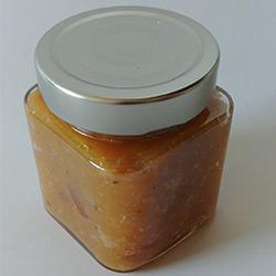 LA CAILLE BLANCHE - Confiture de noix de coco et écorce d'orange confite