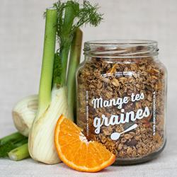 MANGE TES GRAINES - Topping de graines aux légumes et fruits